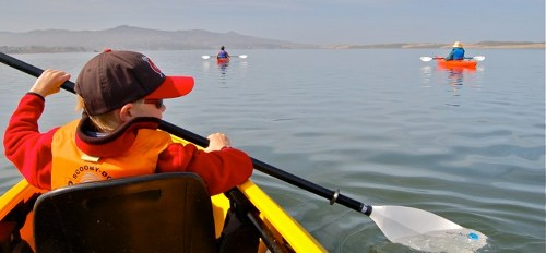 Family kayak tour on Morro Bay